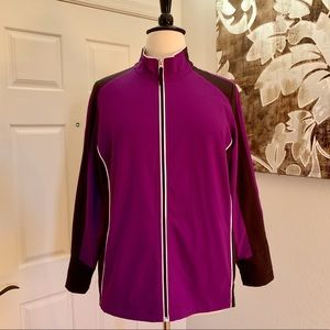 Made For Life Purple & Black Activewear Jacket